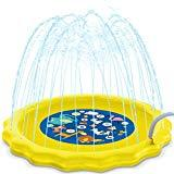 Offer for HISTOYE Outdoor Sprinkle Play Mat Summer Sprinklers for Yard Kids 63