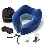 Offer for Baban Travel Pillow, Airplane Neck Pillow Memory Foam Neck Cushion,Flight Pillow Travel Kit Compact and Breathable for Sleeping Napping on Airplane,Car,Office,Sleeping Mask,Earplugs and Phone Holder
