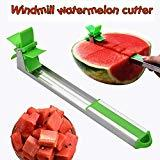 Offer for EKKONG Watermelon Slicer,Novel Windmill Cutter Knife Stainless Steel Corner Fruit Melon Vegetable Windmill Slicer Cutter Tongs Tools Kitchen Gadgets-Green