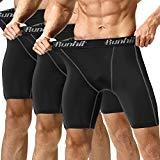 Offer for Runhit Men's Compression Shorts(3 Pack),Compression Spandex Shorts Underwear