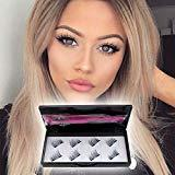 Offer for False Magnetic Eyelashes 8 Pieces No Glue,Thin Magnet Lightweight 3D Reusable Lashes Extensions (2 pairs with Tweezers)