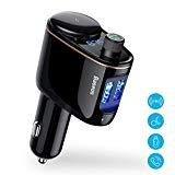 Baseus Bluetooth FM Transmitter for Car, Car Cigarette Lighter QC3 0 3 4A  Wireless Bluetooth FM Radio Adapter MP3 Music Player Car Kit with  Hands-Free