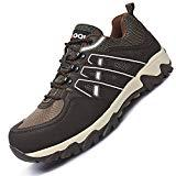 Offer for Fires Steel Toe Men's Safety Work Industrial and Construction Shoes Brown 14 M US