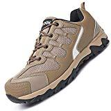 Offer for Mens Safety Work Shoes Athletic Steel Toe Footwear Brown 8 M US