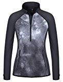 Offer for Little Donkey Andy Women's Long Sleeve Running Shirts Workout Gym Sports T-Shirt Quick Dry Black M