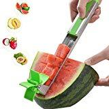 Offer for Watermelon Windmill Cutter Watermelon Slicer Stainless Steel Novel Hand Manual Melon Cantaloupe Fruit Knife Corer Kitchen Gadget Fruit Vegetable Salad Tools Family Picnic Helper Mother's Gift