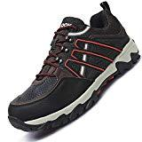 Offer for Fires Mens Non-Slip Sneakers Breathable Low Top Shoes for Outdoors Black 11 M US