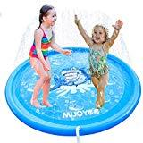 Offer for MIJOYEE Splash Pad, 68 inches Splash Mat, Outdoor Water Play Sprinklers Summer Toys Fun for Infants Toddlers and Kids in Backyard Playing(Buie Shark)