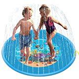 Offer for D-FantiX Large Sprinkler Mat , 67in Large Sprinkle and Splash Play Mat Inflatable Outdoor Sprinkler Pad Water Toys for Toddlers Kids Boys Girls Summer Fun