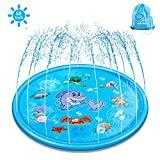 Offer for Splash Pad & Sprinkle Play Mat, ELECTRAPICK Upgraded 68