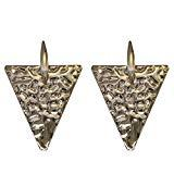 Offer for Large Geometric Metal Big Triangle Dangle Drop Simple Earrings for Women (Del Operator)