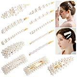 Offer for Pearl Hair Clips for Women, Homga 12pcs Pearl Hair Barrette Clips Girls Non-Slip Hair Barrette Hairpins Headwear Hairgrip Hair Styling Accessories for Party Wedding and Daily