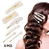 Offer for Pearl Hair Clips for Women Girls, ETEREAUTY Pearl Barrettes Hair Pins, Fashion Sweet Hair Decorative for Party Wedding Daily, 6 PCS