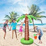 Offer for Jozo Water Toys for Kids Outdoor Inflatable Palm Tree Sprinkler, Outside Splash Toys for 2 3 4 5 6 7 8 9 Year Old Boys and Girls