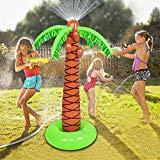 Offer for Juboury Palm Tree Sprinkler Inflatable Palm Tree Water Toys - Outdoor Inflatable Ginormous Palm Tree Yard Sprinkler for Kids