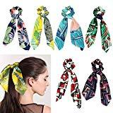 Offer for 6 Pack Hair Scarf Silk Bowknot Scrunchies,Maswater Colorful Hair Scrunchies Elastic Hair Bands Hair Ties Rope Ponytail Holder Hair Accessories for Women Girls