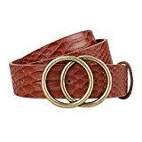 Offer for Exlura Women's Vintage O-ring Buckle Belt Fashion Faux Leather Waist Belt for Jeans Dress