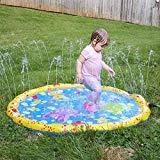 Offer for YIZER Sprinkler pad & Splash Play Mat Sprinkler for Kids Children's Summer Outdoor Water Toys Splash Pad for Toddlers 39inch