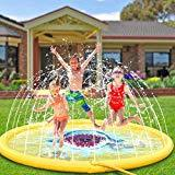 Offer for MAKHISTORY Splash Pad for Kids, 68'' Inflatable Kids Sprinkler Summer Outdoor Water Pool Toys for 2 3 4 5 6 7 8 Year Old Boys / Girls / Toddlers