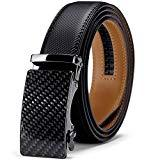 Offer for Men's Belt, Jiguoor Slide Ratchet Belt for Men Genuine Leather, Trim to Fit