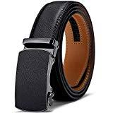 Offer for Men's Belt, Jiguoor Slide Ratchet Belt for Men Genuine Leather, Automatic Buckle, Trim to Fit, Gift for Men
