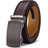 Offer for Belt for Men, Jiguoor Ratchet Belt Genuine Leather Belts for Men, Automatic Buckle & Adjustable Size Dress Belt, Gift for Men