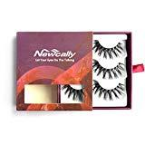 Offer for Newcally 3D False Eyelashes Faux Mink Long Dramatic Lashes 3 Pairs�