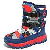 Offer for KIIU Kids Snow Boots Toddler Slip Resistant Winter Boots for Boys Girls Outdoor(Navy/Red, 11 Little Kid)