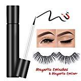 Offer for Suntee Magnetic Eyeliner with Magnetic False Eyelashes Set, Waterproof/Smudge Proof/Reusable Ultra Thin Magnetic Eyelashes, Natural Look No Glue False Lashes