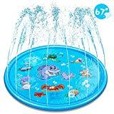 Offer for EocuSun Sprinkler for Kids, Sprinkle and Splash Play Mat 68