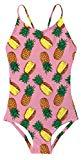 Offer for 3-4 Years Old Pineapple Graphic Bathing Suit Swimming Cool Sun Protection Competition Swimsuit for Baby Toddler Girl 3-4 T Pink