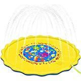Offer for TOPIA STAR Splash Pad& Sprinkler Mat 68'' Toddler Water Toys Fun for 1 2 3 4 5 6 Year Old Boys and Girls, Kids Outdoor Party Sprinkler Toy (68inch, Yellow)