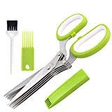Offer for Herb Scissors with 5 Blades and Cover,Kitchen 5 Stainless Steel Blade Herb Cutting Shears Scissors, Shredding Scissors for Paper,Food Salad Herb Cilantro Cutter Mincer Chopper Garden Kitchen Gadgets