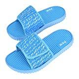 Offer for Lifekit Women's Slide Sandals Adjustable Anti-Slip Bath Shower Pool Summer Slippers Home Indoor Outdoor Quick Drying Shoes Size 6 Blue