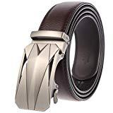 Offer for Men's Belt Genuine Leather Ratchet Dress Belt with Automatic Buckle Packed in Elegant Gift Box (Adjustable from 25