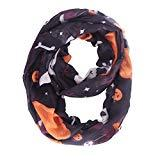 Offer for MissShorthair Halloween Infinity Scarf Lightweight Loop Holiday Gift Idea