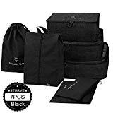Offer for Packing Cubes STURME 7 Set Luggage Organizer for Travel with Shoes Bag and Laundry Bag (Black)