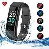 Offer for Kirlor Fitness Tracker HR,Activity Tracker Watch with Heart Rate Blood Pressure Monitor,Waterproof IP68 Colorful Screen Smart Bracelet with Calorie Step Counter Sleep Monitor for Android and iPhone