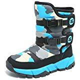 Offer for KIIU Kids Snow Boots Toddler Slip Resistant Winter Boots for Boys Girls Outdoor(Black/Blue, 7.5 Toddler)