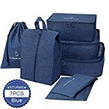 Offer for Packing Cubes STURME 7 Set Luggage Organizer for Travel with Shoes Bag and Laundry Bag (Blue)