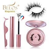 Offer for BEEOS 3D Mink Magnetic Eyelashes with Eyeliner Kit, 5 Magnets False Lashes and Liquid Magnetic Eyeliner Sit with Mirror and Tweezers,�No Glue Reusable Magnetic Eyelashes Natural Look (G02)