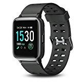 Offer for Letsfit Smart Watch, 1.3'' Color Touchscreen Fitness Tracker with Heart Rate Monitor, IP67 Water Standard 14 Sport Activity Sleep Monitor Message Reminder for Men Women Kids