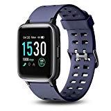 Offer for Letsfit Smart Watch, 1.3'' Color Touchscreen Fitness Tracker with Heart Rate Monitor, 5ATM Waterproof 14 Sport Activity Sleep Monitor Message Reminder for Men Women Kids