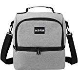 Offer for HIPPIH Premium Insulated Lunch Box for Men/Women- Waterproof & Leakproof Cooler Bento, Holder Durable Reusable Lunch Bag for Work/Office/Travel/Picnic, Grey