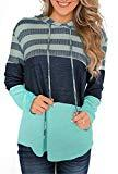 Offer for Mystry Zone Warm Sweater for Women Green Hoodies Comfy Color Block Pullover XL