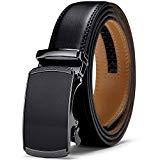 Offer for Men Belt, Jiguoor Ratchet Belt Genuine Leather Belts for Men, Automatic Buckle & Adjustable Size Dress Belt, Gift for Men