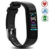 Offer for DoSmarter Waterproof Fitness Tracker Heart Rate Monitor Watch, All-Day Activity Tracker Pedometer Watch with Step Calories Sleep Tracker, Smart Band Health Tracker for Man Woman Kids Best Gift, Black