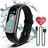 Offer for SIKADEER Fitness Tracker HR, Activity Tracker Watch with Heart Rate Monitor, IP68 Waterproof Health Tracker with Step Counter, Calorie Counter, GPS Watch for Kids, Women and Men