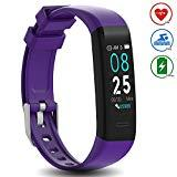Offer for DoSmarter Waterproof Fitness Tracker Heart Rate Monitor Watch, All-day Activity Tracker Pedometer Watch with Step Calories Sleep Tracker, Smart Band Health tracker for Man Woman Kids Best Gift, Purple