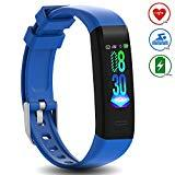 Offer for DoSmarter Waterproof Fitness Tracker Heart Rate Monitor Watch, All-Day Activity Tracker Pedometer Watch with Step Calories Sleep Tracker, Smart Band Health Tracker for Man Woman Kids Best Gift, Blue